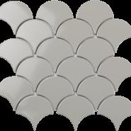 Fan Shape Light grey glossy