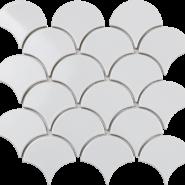 Fan Shape White glossy