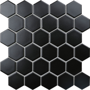 Hexagon Small black matt