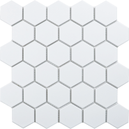 Hexagon Small white matt